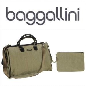 Baggallini Doctor's wide mouth Dr. bag in mushroom